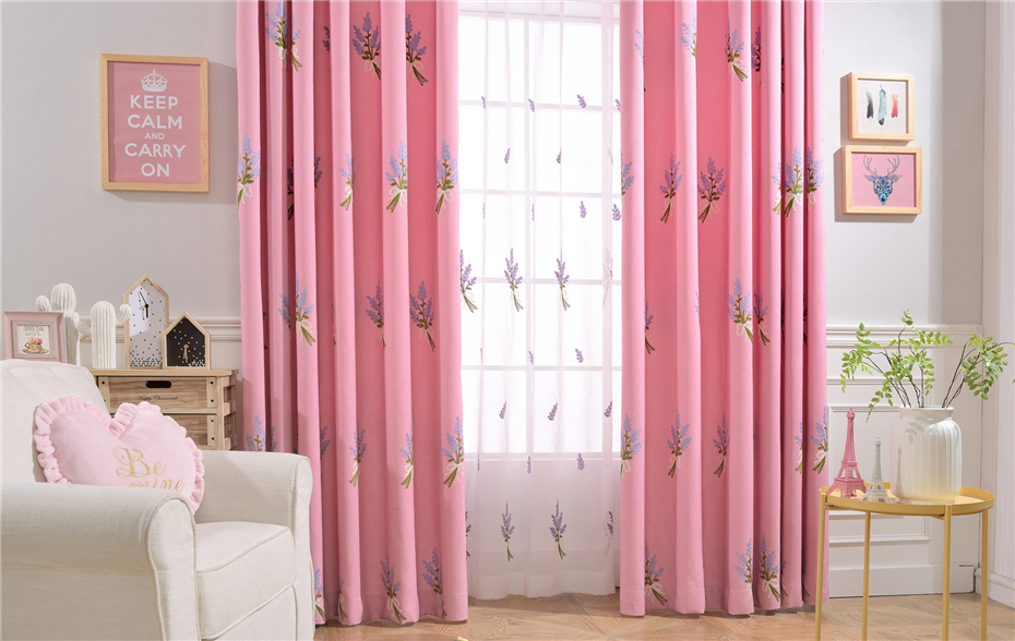 byetee} Blackout Kitchen Luxury Curtains Doors For Bedroom Pink ...