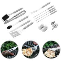 Tool Stainless Steel BBQ 18pcs Set Skewers Brush Fork Outdoor Grilling Tool Set