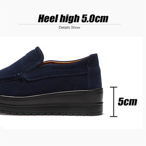 Image 3 - 2019 Autumn Women Flats Platform Shoes Leather Suede Slip On Moccasins Creepers Chaussure Femme Comfort Sneakers Shoes Woman 329