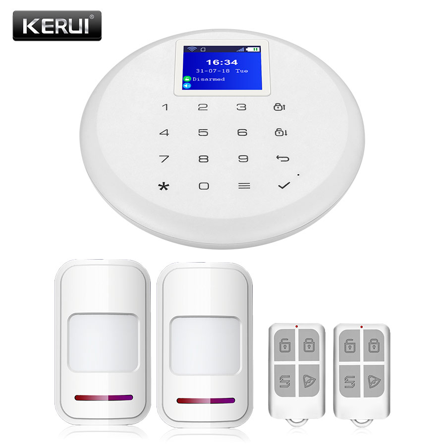 KERUI W17 Home Touch Screen 6 Language IOS Android APP Control Burglar Alarm System Suit Wireless WiFi GSM Security Alarm System