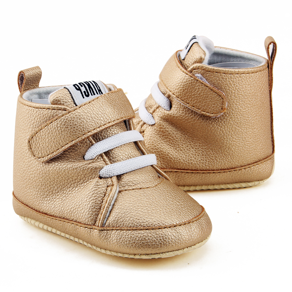 Delebao High State Department With Magic Stickers Leather Baby Shoes 2018 Sleek Sneakers Fashion First Walkers in First Walkers from Mother Kids