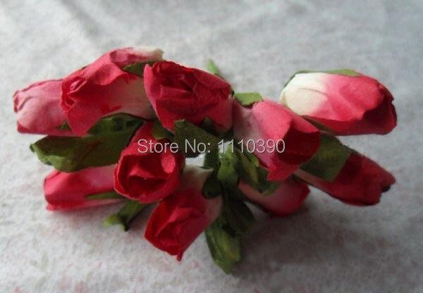 Mini Artificial Rose Flores Ramos Papel De Seda Rosas