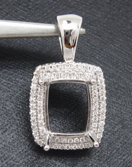 10x8mm cushion solid 14kt white gold natural diamond pendant 10x8mm cushion solid 14kt white gold natural diamond pendant settings solid 14k gold pendant mozeypictures Choice Image