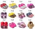 0-18 m infantil suave bling del bebé mocasines zapatos del pesebre del recién nacido mocasines glitter sparkle niña pequeña franja roja de navidad zapatos de regalo