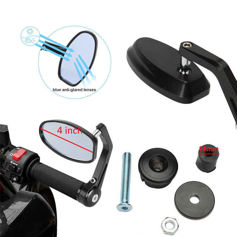 "22 мм 7/8 ""Универсальный мотоцикл ручка БАР КОНЕЦ ЗАДНЕГО вида боковые зеркала для CBR 600 1000 RR Ninja ZX 6R 9R 10R YZF R1 R6 R6S GSXR"