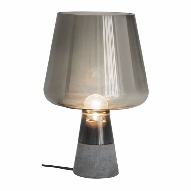 Bon Glass Table Lamps Cement Base Desk Lamp With Glass Shade For Beside Home  Decor For Bedroom