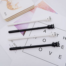 2pcs/lot  Creative doll neutral pen black 0.5mm gel pen Kawaii stationery pens students school office writing pen Student gift creative cute cat s paw gel pen kawaii students writing neutral pens caneta office school stationery supplies 0 5mm