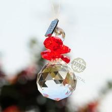 7PC Crystal Sun-catcher Hanging Pendant Angel Handmade Ornament, Wedding Decor Rainbow Maker Prisms