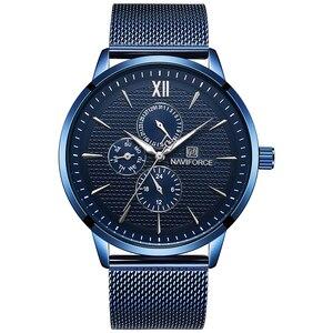Image 2 - ใหม่หรูหรา NAVIFORCE แบรนด์ Mens นาฬิกา 24 ชั่วโมงส่องสว่างแฟชั่นกีฬานาฬิกาควอตซ์ผู้ชาย Relogio Masculino