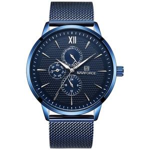 Image 2 - New Luxury NAVIFORCE Brand Mens Casual Watches 24Hour Luminous Hands Fashion Mesh Band Sport Quartz Watch Men Relogio Masculino
