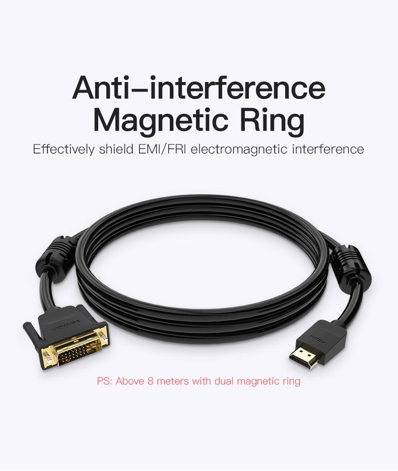 HDMI to DVI Cable 1m 2m 3m 5m DVI-D 24+1 Pin HTB16RVac8OD3KVjSZFFq6An9pXaB