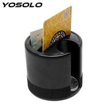 YOSOLO Fenda Assento Caixa de Armazenamento de Carro Slot Para Cartão Coin Titular Container Organizador Estiva Tidying Acessórios Interiores Do Carro-styling