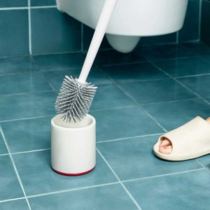 Image 5 - Youpin Yijie TPR Toilet Brushes and Holder Cleaner Set Silica Gel Floor standing Bathroom Cleaning Tool