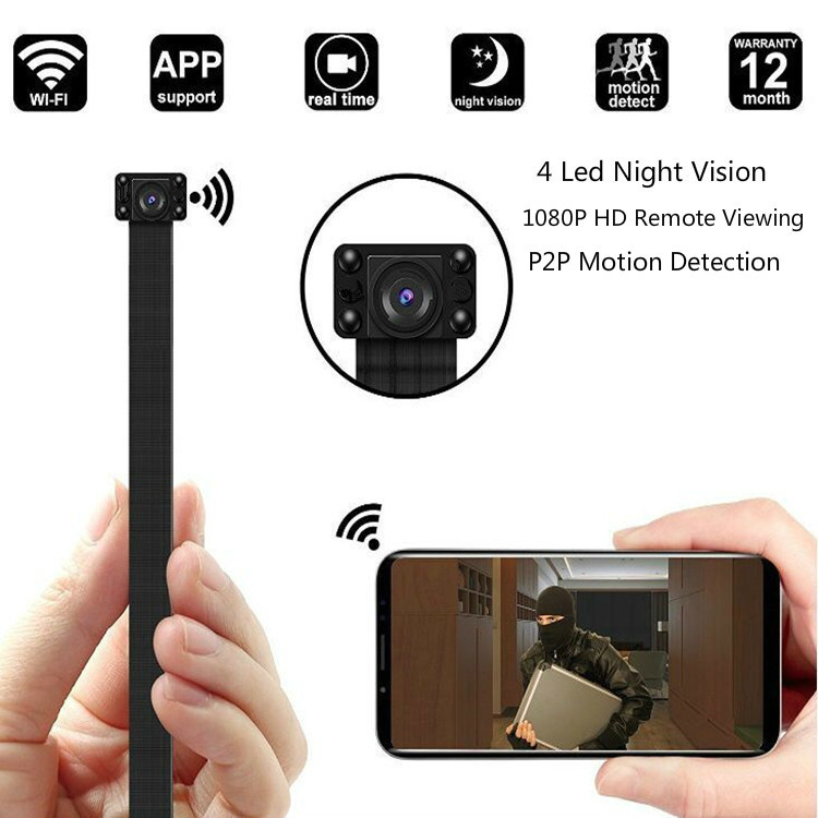 Mini Wifi Cam 1080P Camcorder Mini Ip Camera Security Surveillance Night Vision Module 2.4G RF Remote Control Infrared Camera