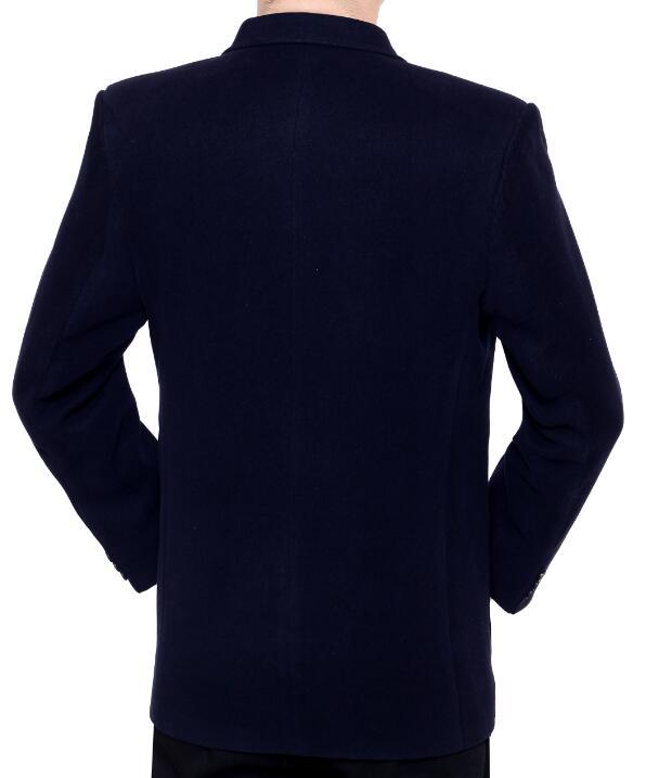 Пальто мужской костюм на осень зиму утепленная одежда человека среднего  возраста куртка мужчины пиджак masculino стройная фигура casaco jaqueta  masculina-in ... 5f7d1acbbd7