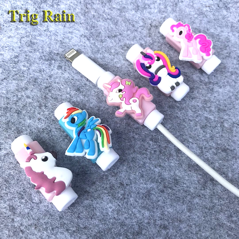 My Little Pony Cartoon Cable Protector Data Line Cord Protector Protective Case Cable Winder Cover For iPhone USB Charging Cable pe hagit fashion 1 pair round shape vintage stud earrings for man trendy party black earrings jewelry men