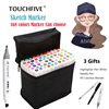 TouchFIVE Marker 30 40 60 80 168 Colors Pen Marker Set Dual Head Sketch Markers Brush