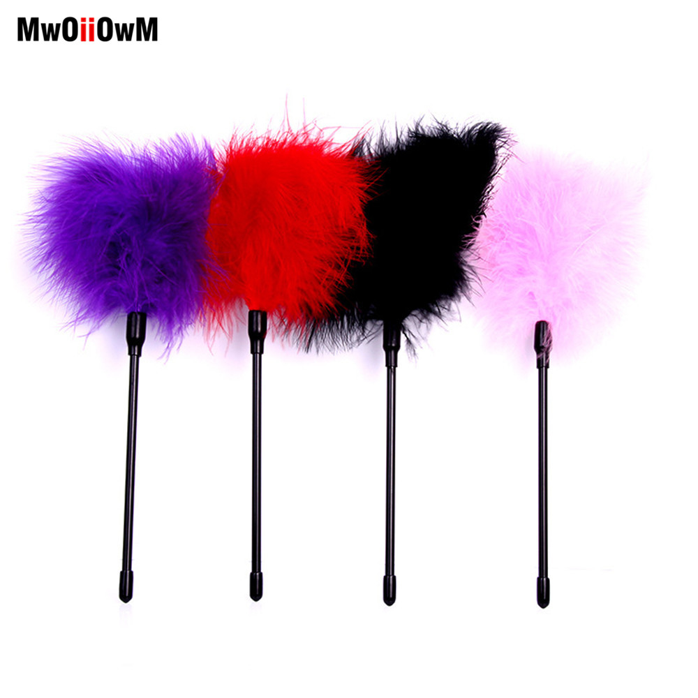 MwOiiOwM Flirting Feather Flirting Whip Sex Toys Flirt Soft Flogger For Couples Tease Adult Game Sex Products Exotic Accessories