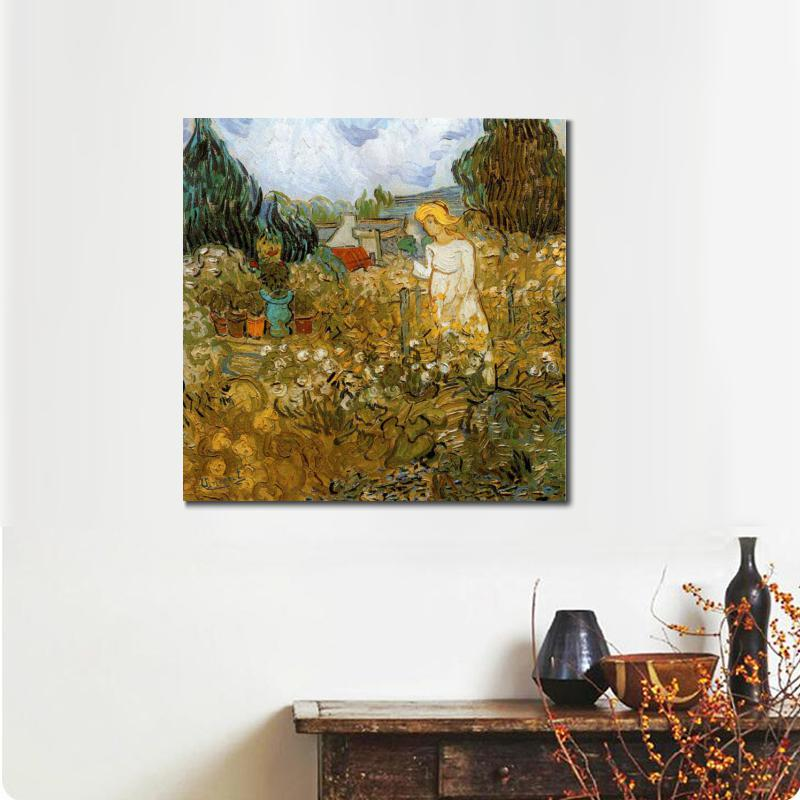 Oil Painting On Canvas Marguerite Gachet Dans Son Jardin Vincent Van Gogh  Stretched Handmade Landscape Art Wall Home Decor In Painting U0026 Calligraphy  From ...