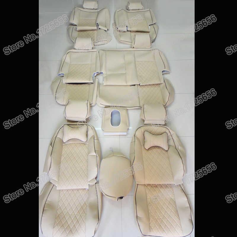 Autodecoração PU tampa de assento de couro para cadillac escalade 2008 acessórios tampas de assento para carros de assento capa de almofada suporta airbag