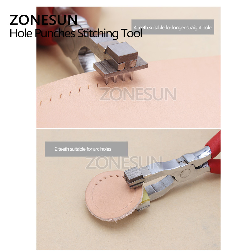 Hand Tools Zonesun Hole Punch Plier Stitching Punching Tool Puncher For Leather Craft Handcraft Sewing Tool Wallet Leather Hole Punch