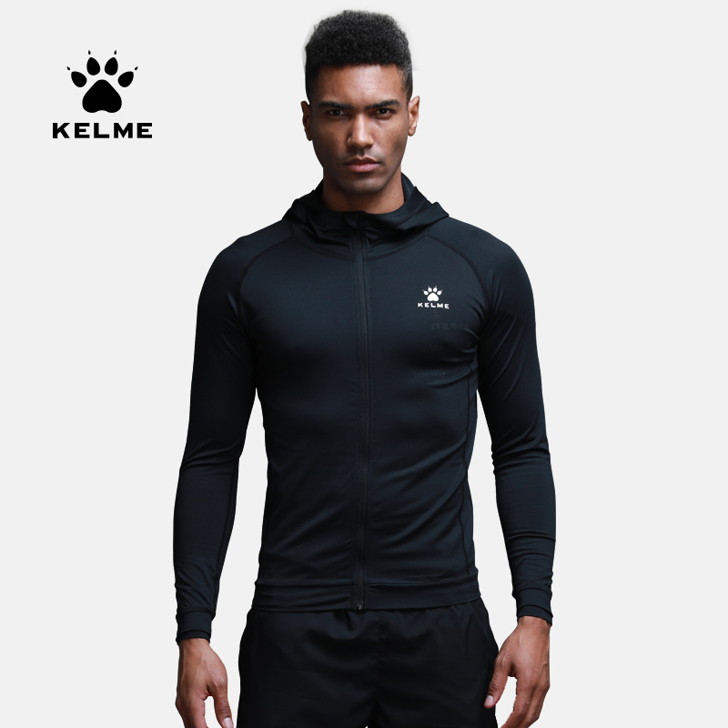 Kelme Fitness clothing jacket men s quick drying breathable running training tights compression compression hooded coat