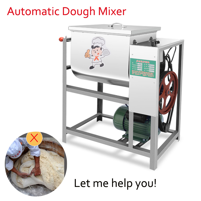 Commercial Automatic Dough Mixer 25kg Flour Mixer Stirring Mixer the Pasta Machine Dough Kneading GF0019 free shipping multifunctional dough blender commercial flour dough mixer home wheat flour mixer machine mixer machine