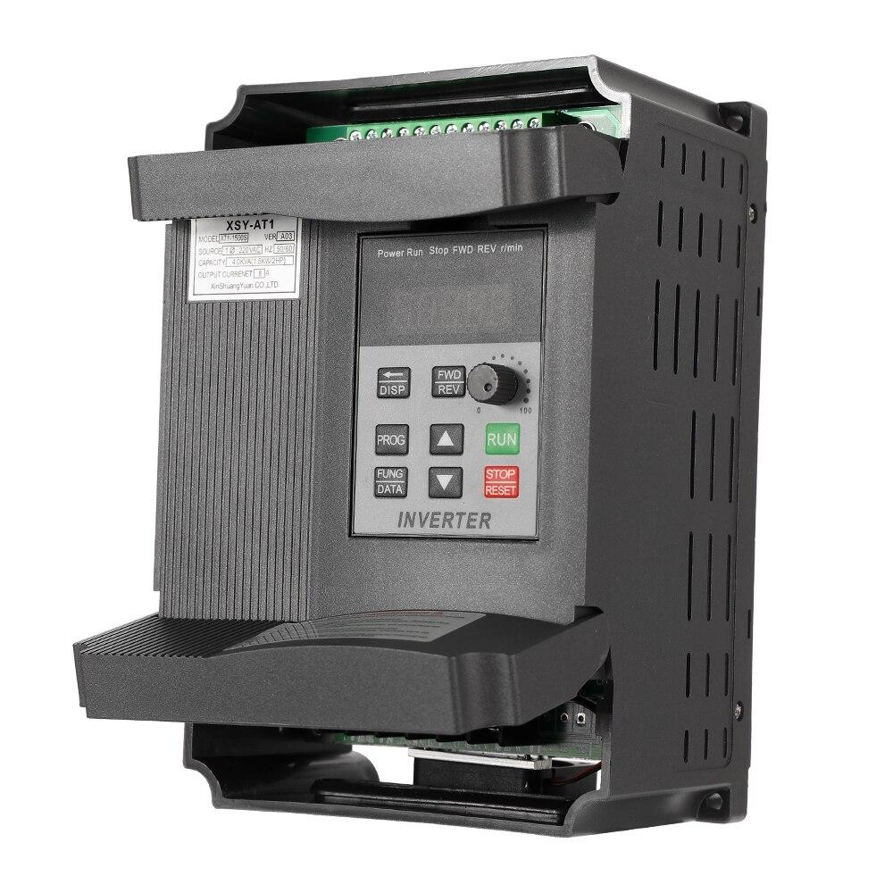 AT1-1500S universel 1.5KW 12A 220V VFD régulateur de vitesse de fréquence moteur à courant alternatif simple à triphasé inverseur Variable