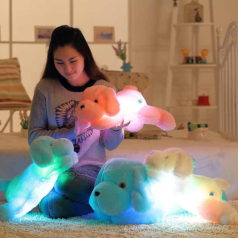 Светящаяся Подушка игрушка собака плюшевый светильник Led набивные животные Красная светящаяся подушка подарки для девочки игрушка для детей Светодиодная лампа подарок для мальчика