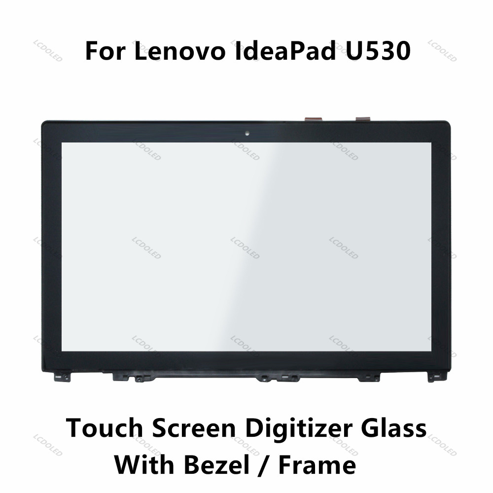 15.6 inch Brandnew For Lenovo IdeaPad U530 20289 Touch Screen Digitizer Crystal Glass Lens With Bezel / Frame Replacement Parts original 14 touch screen digitizer glass sensor lens panel replacement parts for lenovo flex 2 14 20404 20432 flex 2 14d 20376