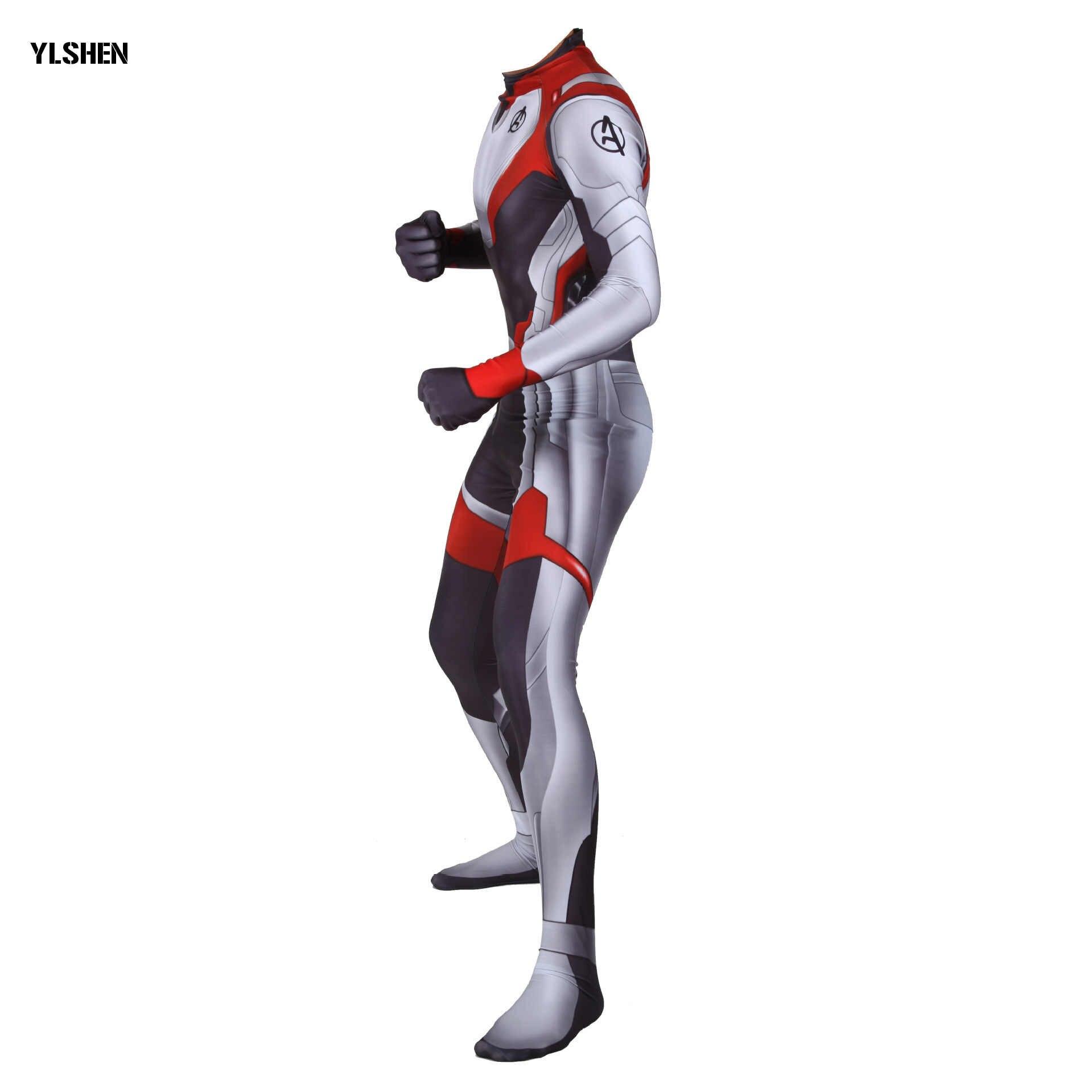 Gratis Menyesuaikan Avengers Endgame Quantum Dunia Celana Kodok Cosplay Kostum Spandex Berkualitas Tinggi Wanita Cosplay Anak-anak Dewasa Bodysuit