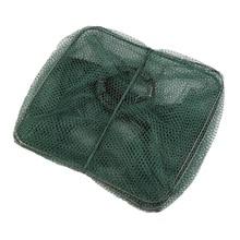 Foldable Crab Fish Crawdad Shrimp Minnow Fishing Bait Trap Cast Net Cage free shipping