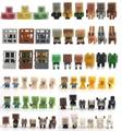 72 pçs/lote 3 CM alta qualidade juguetes de minas artesanato Brinquedo de Montagem de brinquedos Bloco de Construção conjunto De Brinquedos figura de ação DO PVC conjunto