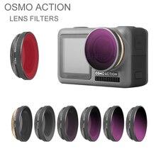 Osmo Action kit de filtros de objetivo de cámara filtro UV ND NDPL CPL para DJI Osmo Action, lentes polarizados, accesorio para cámara