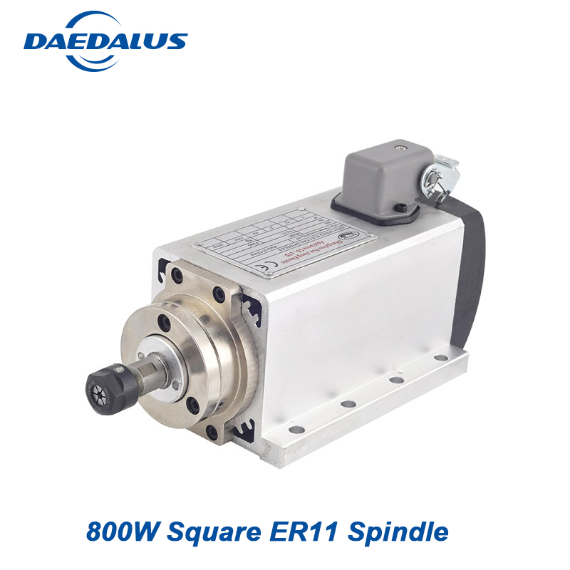 цена на Air Cooled Motor 0.8KW Square 110V 220V Spindle ER11 Motor 4 Bearings CNC Spindle Router Tools Milling Machine Bit