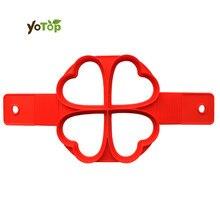 YOTOP 4 формы антипригарный флип Фантастическая силиконовая любовь/круглая/квадратная/Цветочная Жарка яичный пирог форма для печенья выпечка в духовке форма для блинчиков