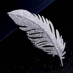 Red Trees Brand High Quality Fashion Classic Feather Brooch For Man In Box Package