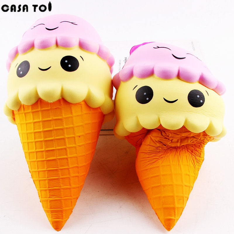 PU Squishy Ice Cream Cute Soft Toy Squeeze Funny Stress Squishies Fun Crazy Squeeze Childrens Toys For Boys and girls