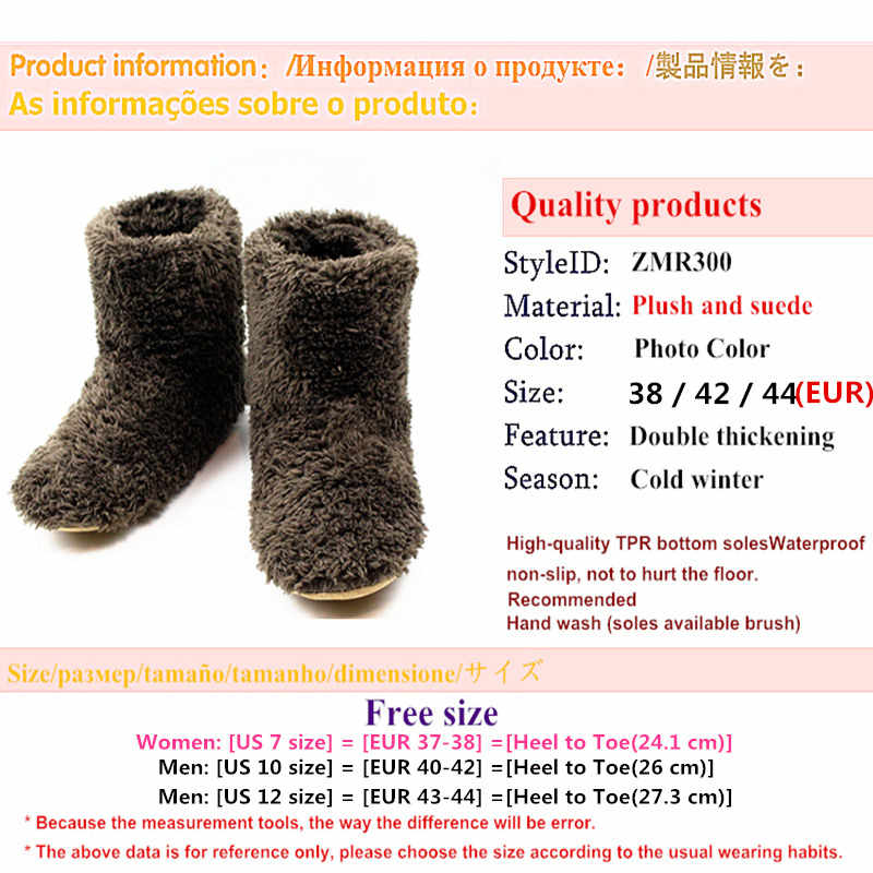 c7e29717f6f7f High Quality Lovers Slippers Adult Men/Women Winter Home&House Indoor Floor  Shoes Man Plush Warm Furry Fluffy Slipper Mens Flats
