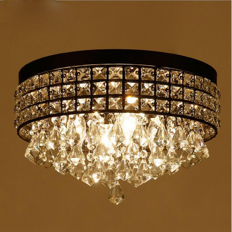 American Village Crystal Chandelier Creative Living Room Bedroom Restaurant Bar Cafe Engineering Lights lighting fixture ring chandelier led american village living room head simple restaurant solid wood circle new cl mz133