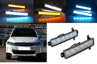 2x High Quality Waterproof LED Daytime Running Light With Yellow Turn Light For Citroen C3 XR
