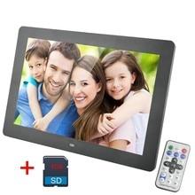 Дюймов 10 дюймов цифровая фотосветодио дный рамка светодиодная подсветка 600*1024 экран электронный альбом картина музыка видео 8 ГБ SD карта вместе хороший подарок