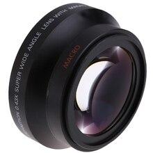 Lente de ângulo amplo da alta definição, lente digital de 67mm com óptica do macro japonês para canon rebel t5i t4i t3i nikon 18 105