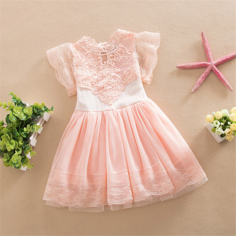 3-8T Kid Girls Princess Baby Dress Infant Baby Girl Clothes LaceTutu Ball Gown Party Dresses Kid Girl Children clothing infant baby kid children little girl pageant dress party dresses prom dresses 1t 6t g026
