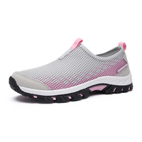 2017 Hiking Shoes Women Trekking Summer Women Shoes Outdoor Breathable Mountain Slip On Walking Trainers Red Pink Climbing Shoes