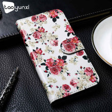 Taoyunxi Flip Leather Case For LG K10 K4 2017 K5 K7 K10 LTE K430 M2 F670 X400 M250 K100 K100DS K120E K130E Wallet Case K40 L80(China)