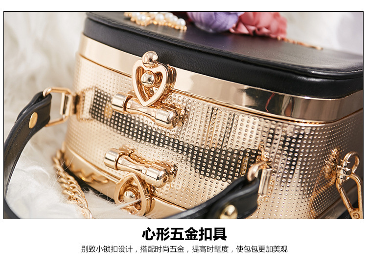 Women crossbody bag female messenger bag with long and short strap fashion designs flowers 62