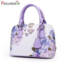 Купить с кэшбэком FGJLLOGJGSO Female Printed tote Luxury Leather Soft Shell 2018 New Women Handbag Famous Brands Designer Shoulder Messenger Bag