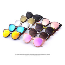 Retro Pierced Cat Eye Women Sunglasses UV400
