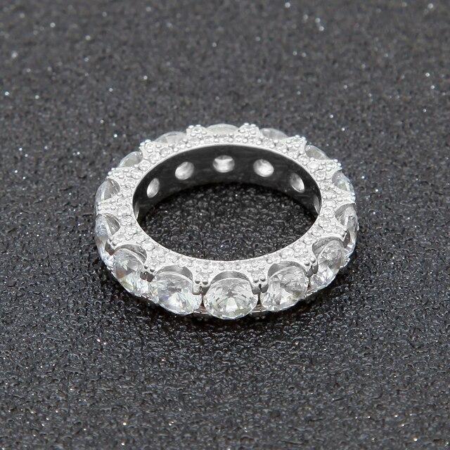 UWIN 1 ª CZ Full Ring Bling Ghiacciato Fuori Da Sposa Zircone Cava di Lusso Di Fidanzamento Gioielli di Moda Regalo